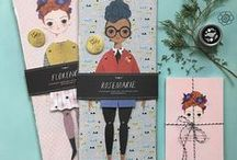paper dolls / Paper dolls with or without clothes, vintage and in contemporary style.