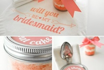 """Will You Be My Bridesmaid?"" Ideas! / Find a pretty and unforgettable way to ask your closest friends, sisters, and cousins to be your bridesamaids with these fabulous tips and gifts!"