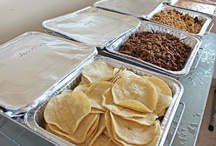 Drop Offs / Pick Ups (Limited Availability) / Gourmet taco catering by SoHo Taco: drop offs.  This is the typical set up our customers can expect, which includes tortillas, meats, condiments, napkins, forks, serving spoons, tongs, etc.  Limited availability, please ask your friendly representative for more information.