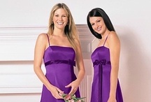 "Bridesmaid Dresses: Purple / Purple is IN this season! All of my floral designer friends are saying that bridal flower orders are mostly in purple hues, so here are some of my top picks for pretty purple, lavender and lilac dresses for bridesmaids. See my book ""Bridesmaid on a Budget"" for help in choosing a stylish dress for a LOT LESS MONEY, www.sharonnaylor.net"