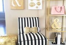 Beauty Room Inspiration / Decor inspiration for beauty rooms or feminine office spaces.