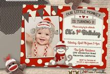 Sock Monkey Birthday Party Ideas / Cute Sock Monkey Printables