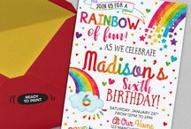 Rainbow Party Printables Ideas / Colorful rainbow birthday party ideas.  Printable for your rainbow birthday party