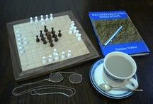 The Hnefatafl Shop / These are hnefatafl games sold by Cyningstan.  Many of these games are available to buy and play today.  Just visit our web site at http://tafl.cyningstan.com/ and look at the shop to see what's available.