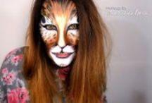 Maquillajes para carnaval ஃ Productos utilizados, fotos y enlaces ஃ / Maquillaje para carnaval ஃ Máscara de plumas ஃ