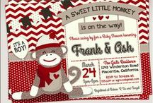 Sock Monkey Baby Shower / Sock Monkey Baby Shower invitations and decor