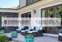Outdoor Living Spaces for Dream Home / Outdoor living is big at Lake Norman in North Carolina. With a year-round moderate climate people love spending time outside. This features some of our favorite outdoor living spaces, many from Ivester Jackson homes!