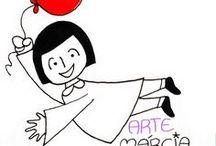 Arte Márcia Menezes / Pintura em peças de porcelana e cerâmica branca pela artista Márcia Cristina Menezes. Ilustrações em diversos suportes: papel, madeira, tecido, etc. Criação de crafts, gifts, sketchs e mais.
