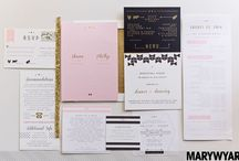Wedding Stationery Invitation Ideas / Some of our favourite stationery at MWP Weddings http://marywyarphotography.com http://marywyarblog.com