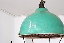 Lighting / Vintage, industrial, antique, handmade lighting that coordinates with a modern home decor palette.
