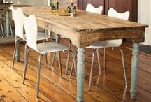 Tables and Legs / Antique, harvest, farm, drafting, buffet, entryway, console, coffee, end, nightstand, and other tables, or things with cool legs.