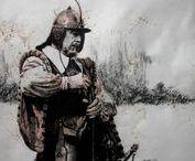 Zeichnungen Historie / Zeichnungen nach meinen Fotografien auf diversen Reenactments. Schwerpunkt Völkerschlacht bei Leipzig 1813, ebenfalls Mittelalter, Zeit des 30jährigen Krieges und Antike. Alle Zeichnungen können käuflich erworben werden. Bitte die Verfügbarkeit anfragen.