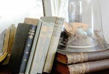 Books. Vintage-style.