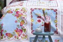 Handkerchiefs. Display Grandma's or Repurpose!