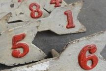One. Two. Three. Vintage Number Decor.