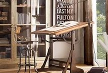 Antique Drafting Tables Repurposed