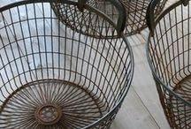Baskets, Vintage Decorating!