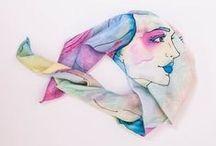 silk scraft / silk scraft by artist Wioleta Patrycja Bąbol