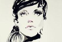 Fashion illustration / Ilustracje inspirowane światem mody w technice akwarela tusz wykonane przez artystkę Wioletę Patrycję Bąbol.