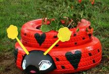 RECYCLED Tires/Rubber / Reusing what others dispose of.