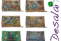 Desalai Leather Wallets  / Each wallet is hand painted by an artist, so a where art design where art and functionality be mixed! A style with a wide appeal and suits women with love for rich and cheerful colours.