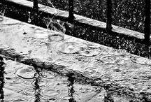Here comes the rain / La pioggia lava via il dolore dei ricordi e mi purifica, il vento alleggerisce il mio spirito appesantito e lo libera e la neve porta pace e silenzio ....
