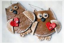 My works - Salt Dough Owls / My works - Salt Dough Owls