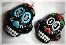 My Works - Salt Dough Muerte Skull