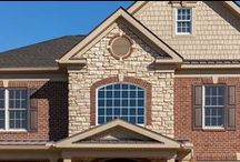 Combination Glen-Gery Brick & Landmark Stone Homes / This board consists of homes that use both Glen-Gery brick and Glen-Gery's line of manufactured stone, Landmark Stone.