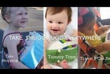 Snuggwugg: Baby Gear Essentials / Looking for #babygearessentials ? Snuggwugg is Molded from eco-friendly supersoft EcoPurasoft™ fill and covered with a minky machine-washable slip cover, Snuggwugg helps keep Baby calm, still and happy during diaper changing and is a perfect prop for tummy time, travel & shopping. Best baby travel gear.  Snuggwugg is lightweight & portable so you can take Snuggwugg anywhere!