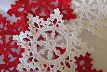 Knit | Crochet Snowflakes & Stars / Ideas about DIY snowflakes and stars - crochet snowflakes, paper snowflakes, snowflake ideas etc