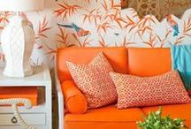 Orange Inspiration / Wunderschöne Wohn- und Dekoideen - natürlich in orange :) // Decorationg Ideas for the home and interior design. Enjoy!