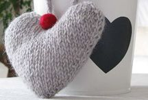 Valentine's projects, ideas, decor etc / Knitting and crocheting patterns, projects and ideas that are just cute and lovely
