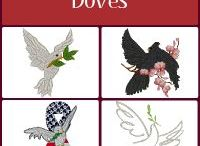 Doves Embroidery Designs / Embroidery Designs of Doves.