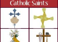 Symbols of the Catholic Saints Embroidery Designs / Machine embroidery designs of symbols and icons associated with Catholic saints. The elements of each design represent a significant spiritual event or portion of their life. Visit us for many, many more Christian embroidery designs all available for Instant Download.