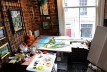 Art Studio Inspirations / Studios and Office spaces built for creativity!