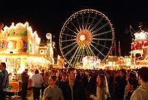 At the fairground / Fairgrounds, funfairs & amusements