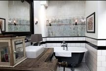 Heavenly bathroom / Would not mind dipping my toes in any of these bathtubs or showers.