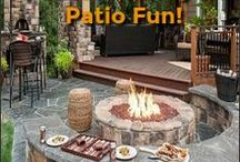 Outdoor Backyard Patio Fun & Ideas / Inspiring outdoor backyard Patio fun ideas and products for everyone. Patio Outdoor Furniture,Playground fun,grilling,firepits, project ideas. Everything to enhance more fun in your backyard.