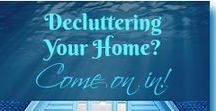 Declutter and Organize Your Home / Declutter Ideas and products to organize everything in your home. Storage Units, Organized Bins, shelving,garage,laundry,closets,kitchen, patio,toys and more.