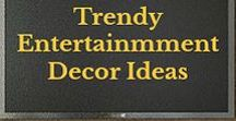 Trendy Entertainment Decor / Entertainment Centers, Trendy Decor ideas, television wall mounts & stands, floating shelves, Home Theater