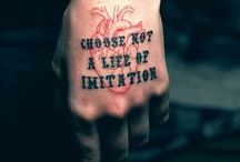 ABC - Quotes and Words / Quotes and words that could possibly make for a good tattoo. / by Tattoo Livvy Doll