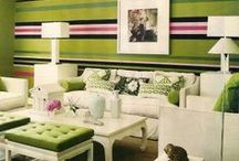 Striped wall / Horizontal striped painted wall
