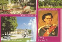 Ludwig's dream Castles -            since he had no heirs, Germany gets a yearly Income of 50 Million Tourist Euros. / What an accomplishment!  - He managed in his short life to build three of the most beautiful Castles, handed them and 'Bavaria'over to Germany and had the legal papers prepared and signed before his death - Tour guides call this man crazy?!  No 'crazy Nut' can pull that off... Ludwig had his own ideas on how to run the country, of course...   / by Edith