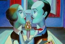 "Amanti Segreti / Serie di dipinti ""Amanti Segreti"" di Pasquale Vinciguerra #quadri #painting #secret #lovers"