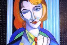 "Arte Ibrida / Serie di dipinti ""Arte Ibrida"" di Pasquale Vinciguerra #quadri #painting #hybrid #art"