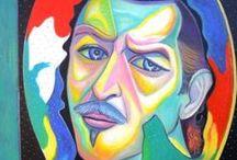 """Autoritratti / Serie di dipinti """"Autoritratti"""" di Pasquale Vinciguerra #quadri #painting #selfportraits #artwork"""