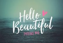 • fonts + type love • / Beautiful fonts and inspiring typography for bloggers and creatives