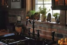 Primitive /country kitchens / Prim and country style decor / by karen wilt