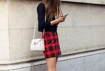 La mode des carreaux / En jupe, en écharpe, en pantalon ou en pull les carreaux se portent sur tout !